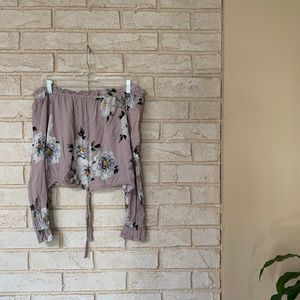 Kendall and Kylie floral blouse